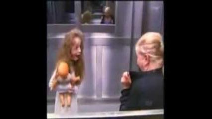Дух в асансьора [шега в Бразилия]