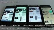 ios vs Mango vs Android vs Meego - iphone 4 vs Htc 7 Mozart vs Sony Ericsson arc vs Nokia N9