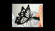 Как да нарисувате Пеперуда кацнала на цвете!