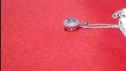 колие с диаманти и аквамарин Kirkorian Diamonds