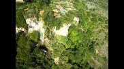 Водопада Полска скакавица от въздуха