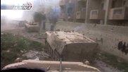 Дарая, Сирия. Мисия с танкове и унищожаване на един Т-72