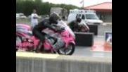 Pink Hayabusa Prostreet 7.3@205mph