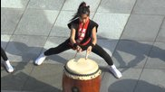 Sensational Young Taiko drummers