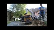 Rc - Modelltruck, O&k beim Aushub der alten Baustelle