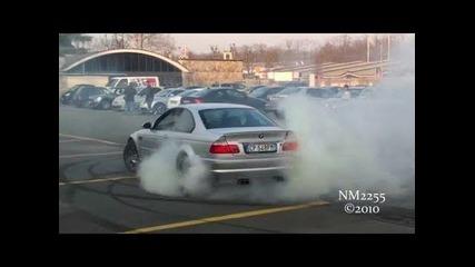 Bmw M3 E46 Amazing Burnout and Drift