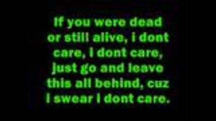 Three Days Grace and Apocalyptica- I don't Care [lyrics]