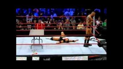 Randy Orton Vs. The Miz (tables match) Tlc 2010 part 2