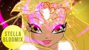 Winx Club:stella Bloomix Transformation! Hd!
