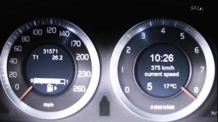 Worlds Fastest Volvo S60 acceleration 100-383 km/h (+800ps, Awd)