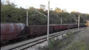 44 091 с товарен влак през Шумен