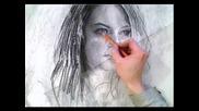 Emma Stone Portrait in Charcoal - Theportraitart