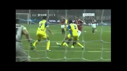 Милан 2:0 Киево - Гол на Ибрахимович