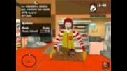 Gta San Andreas - Ronald Mcdonald In Mcdonals Mod