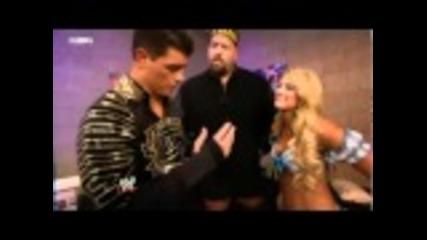 Kelly Kelly, Cody Rhodes & Big Show Backstage