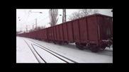 Локомотив 07 087 с товарен влак