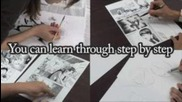 Manga drawing lesson by professional artists (promotion video)