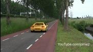 Exotic cars accelerating! Spyker C8 Spyder Challenge Stradale Sc