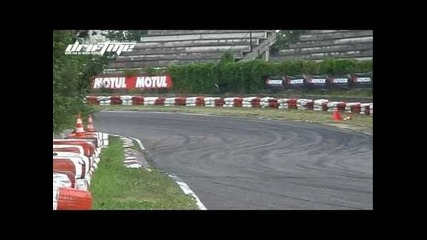 Diesel Mercedes W123 + Scania turbine @ Eastern European Drift Championship 2010