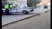 Car Crashed In Russian Police Cars