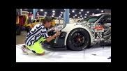 Неповторимо Порше 911 Гт3 2013 Рисувано на ръка Арт Състезателна Кола. Dub Шоу Маями 2014