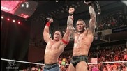 Randy Orton & John Cena Vs Edge & Sheamus • Raw • Recap 14/6/10