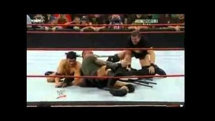 Randy orton breaks Batista Arm