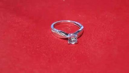 модерен годежен прьстен с аквамарин и диаманти Kirkorian Diamonds