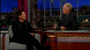 Rob Lowe Talks About the Peyton Manning Tweet with Letterman