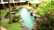 Kailua Beachfront Home features Open Walls and Lava Rock Pool