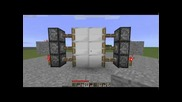 Minecraft: Lock for piston doors