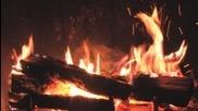 3 часа горене на огън в камина