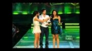 Nina,selena,justin and Ian на една сцена Mmva
