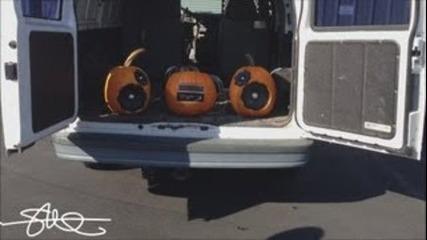Astro Van 500 Watt Pumpkin Sound System - Distance Test