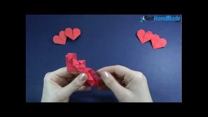 Как да си направим оригами двойно сърце