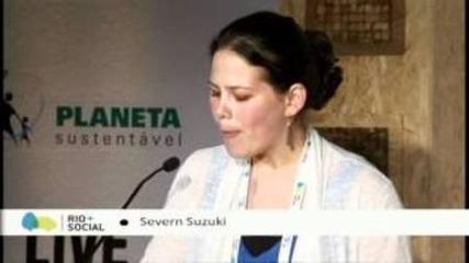 Момичето което накара света да млъкне за 6 минути вече порасна Severn Suzuki