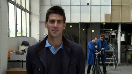 тенис тест с Новак Джокович
