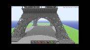 Minecraft Eiffel Tower