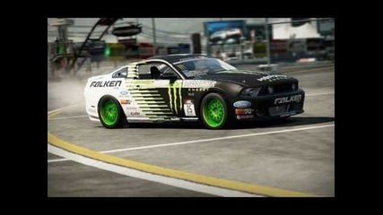 Shift 2 Drift Ford Mustang Monster Energy Falken tire Vaughn Gittin