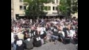 Paok Fans In Amsterdam Centre