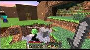 Adventureguys - Minecraft Skyblock ep:12 (събиране на ресурси и укрепване на къщата)