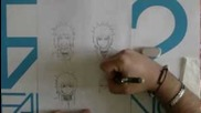 How to draw easily Jiraya