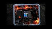 iphone 4 и еще два смартфона на гриле