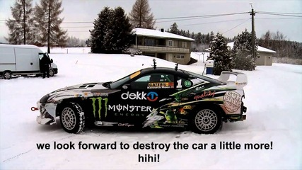 Kenneth Moen Icedrifting Monster Toyota Supra