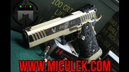 24k Gold 1911 pistol (2011) V-drill with Jerry Miculek!