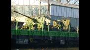 Зенитни оръдия на жп гара Шумен и отпътуването им с влак