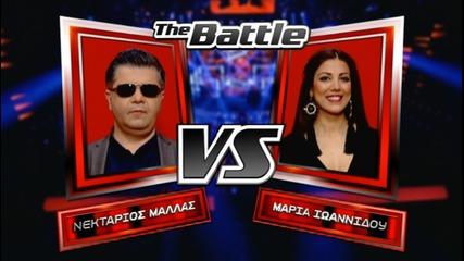 Nektarios Mallas Maria Ivannidou The Voice of Greece - The Battles