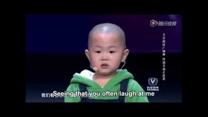 Китай търси талант - три годишно дете, смеха е щастие, chinese got talent