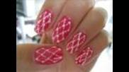 Hot Pink & Black Dotted Nail Art