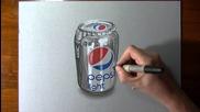 Реалистично рисуване на Пепси